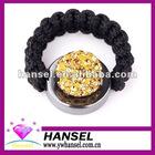 Unique design adjustable paved shamballa rings