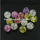 DIY fashion loose acrylic beads with ice flake!! Assorted colors!!