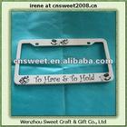 Custom plastic License Plate Frame