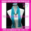 Fashion necklace scarf pendant scarf with jewelery