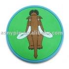 custom promo soft PVC coaster mat with Elephant