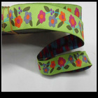 Polyester jacquard ribbon with flower