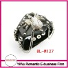 hot sale leather bracelets and charms spider