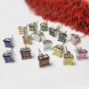 Multi-Color Invisible Cut Basket CZ Earring