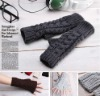fashion beautiful women knitted long gloves