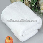 100% cotton pure white bath towel/plain dyed hotel towel