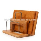 Kitchen Bamboo Cutting board with holder set