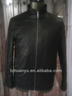 mens fit black leather PU jacket handsome men jacket