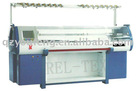 Computer double flat knitting machine