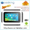 With WIFI,Front 130W Camera Android 4.0 OS 7 Inch tab pc