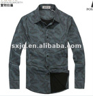 Shirt for man dark colour nice pattern in leaves