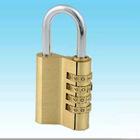 4 digit brass travel lock,brass case locks,travel combination lock