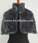 ladies fashionable polyester fauxfur mini cape, style no. 023A