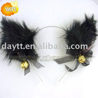 plush cat ear hairband for cosplay and party on wholesale MOQ:50pcs b205