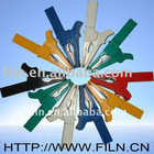 six colors copper crocodile clips 55mm alligator clips