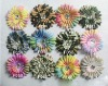 camo and multi color daisy flower clips