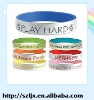 Fashionable 1 inch silicone wristband