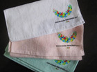 Square Cotton Customized Coating printed face towels CU-33