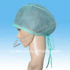 Surgical cap with tie on