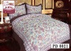 100% polyester suede bedding set with printed pattern/suede