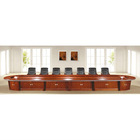 Long conference table with cabinet