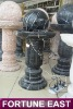 Black Marble Fountain Stone Water