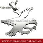 Hot design stainless steel eagle shape dog tag with necklace