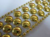 gold 38mm Plastic Rhinestone Trimming