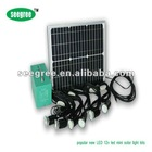 20w indoor solar led light(2/4/6 LED lights,5V/12V output,mini solar fan optional)