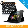 Gothic Fashion Skull Leather Stand Case For The new iPad / iPad 2 - Black