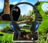 Smart and fashion design wireless headphone with memory card