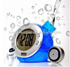water energy/powered digital alarm clock