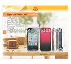Manufacturer design rechargeable portable iphone 4S solar charger case for Iphone for Iphone4/4s with CE,ROHS,FCC