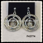 alloy diamond fashion earrings F43774
