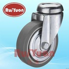 light-duty European type indoor bolt hole swivel Thermoplastic rubber wheel caster