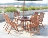 wooden outdoor table set furniture
