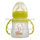 Yellow ilicone feeding baby bottle products in China