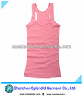 blank slim style fitted best women pink vest tops