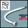 Flexible reinforced PVC hose