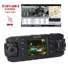 HD Portable car DVR twins cam with G Sensor