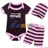 baby pink stripped new design rompers