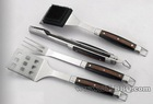 Deluxe forged handle 4pc bbq tool set