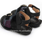 2011 fashion leather sandals for boys