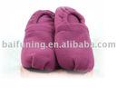 Microwave heated slipper