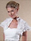Short Sleeve Full of Small Flowers Wedding Jacket