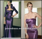 Purple Beaded With Jacket Mother Of The Bride Dresses MBB-51