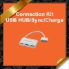 Connection Kit USB HUB Sync Charge Adapter for Apple iPad iPad 2 KCR015