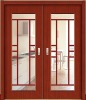 2012New style good quality solid wood composite glass door