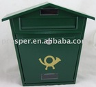 Wall Mounted Mail Box in Green Color