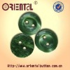 Emerald Green Polyester Shirt Button With 2holes